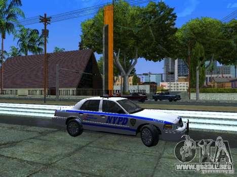 Ford Crown Victoria 2009 New York Police para GTA San Andreas left