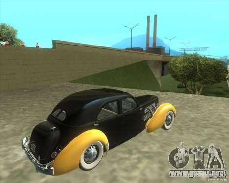 1937 Cord 812 Charged Beverly Sedan para GTA San Andreas left