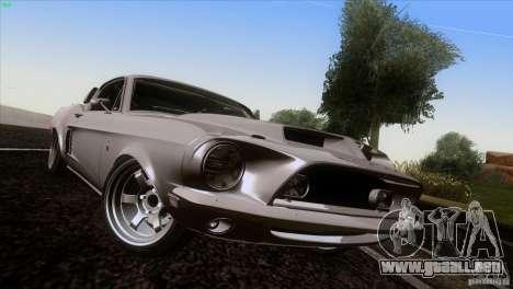 Shelby GT500 1969 para vista lateral GTA San Andreas