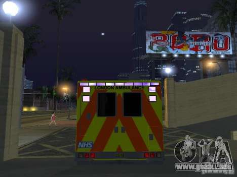 London Ambulance para visión interna GTA San Andreas
