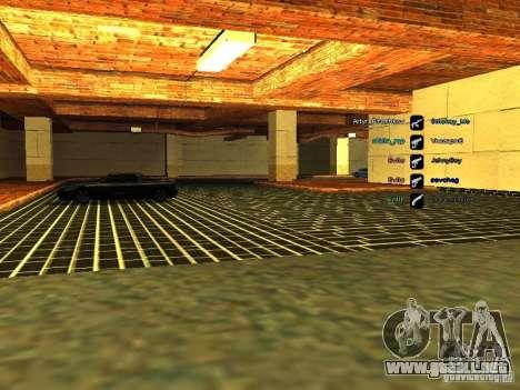 Nuevo garaje para policía para GTA San Andreas quinta pantalla