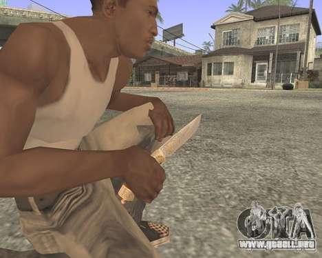 Cuchillo HD para GTA San Andreas segunda pantalla
