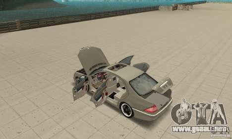 Mercedes-Benz S65 AMG 2004 para visión interna GTA San Andreas