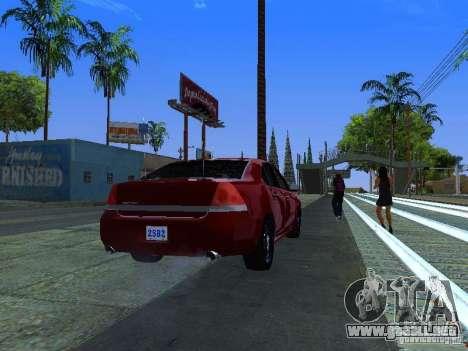 Chevrolet Impala Unmarked para visión interna GTA San Andreas