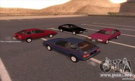 Isuzu Piazza para la visión correcta GTA San Andreas