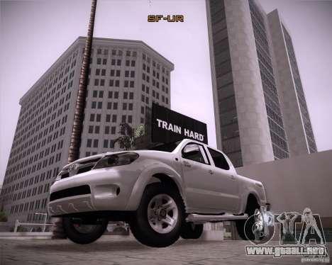 Toyota Hilux para la visión correcta GTA San Andreas