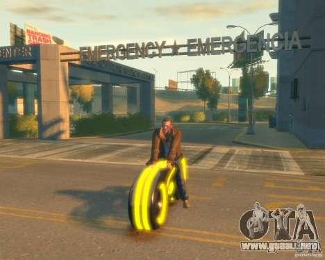 Motocicleta del trono (amarillo neón) para GTA 4
