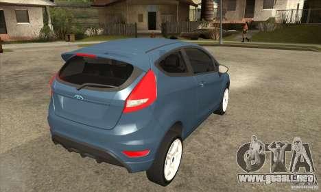 Ford Fiesta Zetec S 2009 para la visión correcta GTA San Andreas