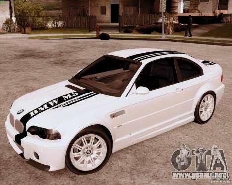 BMW M3 E46 stock para GTA San Andreas left