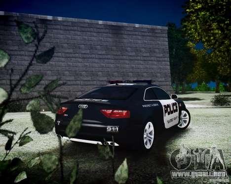 Audi S5 Police para GTA 4 left