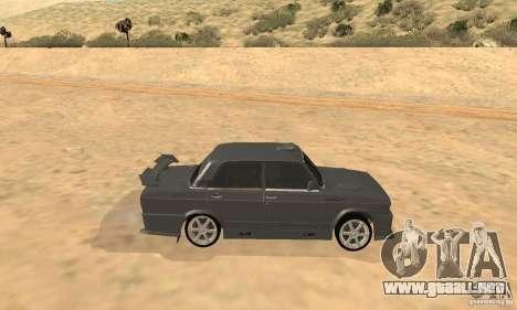 VAZ 2105 noctívaga para GTA San Andreas vista posterior izquierda
