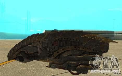 Nave Predator desde el juego Aliens vs Predator  para GTA San Andreas vista posterior izquierda