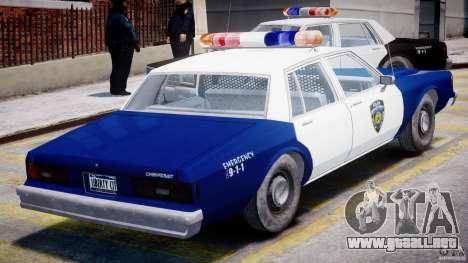 Chevrolet Impala Police 1983 para GTA 4 vista superior