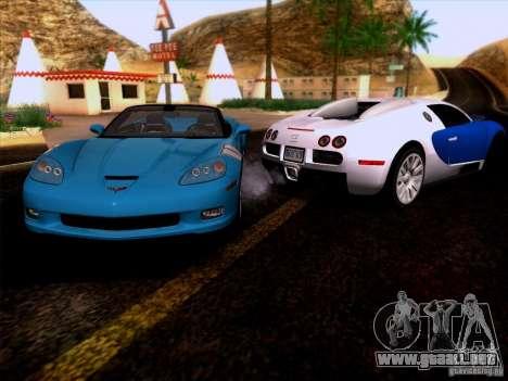 Chevrolet Corvette C6 Convertible 2010 para GTA San Andreas vista hacia atrás