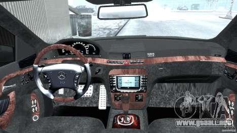 Mercedes-Benz W220 para GTA 4 visión correcta