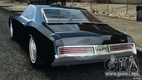 Buick Riviera 1966 v1.0 para GTA 4 Vista posterior izquierda
