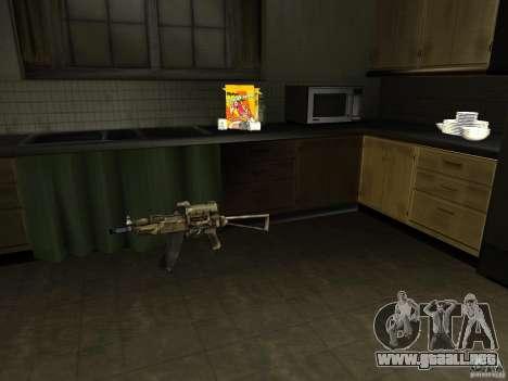 Armas nacional-versión 1.5 para GTA San Andreas segunda pantalla