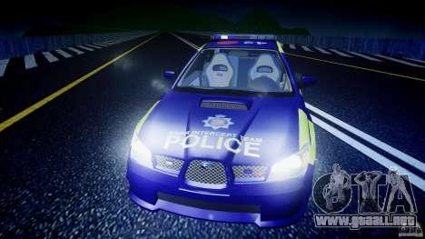 Subaru Impreza WRX Police [ELS] para GTA 4 interior