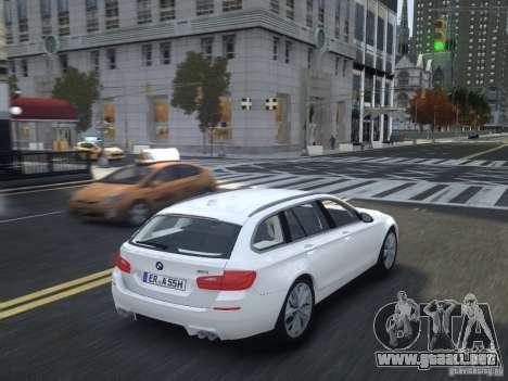 BMW M5 F11 Touring V.2.0 para GTA 4 vista hacia atrás