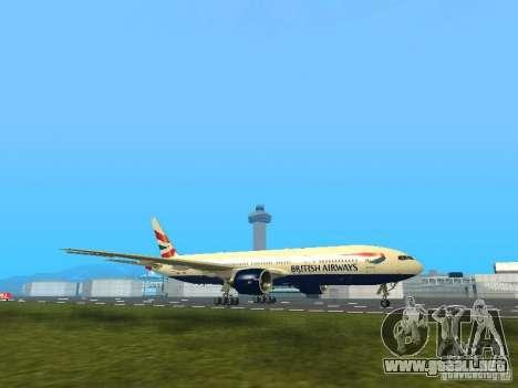 Boeing 777-200 British Airways para GTA San Andreas left