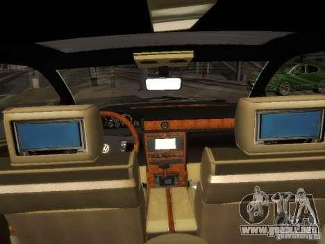 Volkswagen Phaeton W12 para GTA San Andreas vista hacia atrás