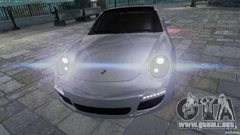 Porsche Targa 4S 2009 para GTA 4 vista hacia atrás
