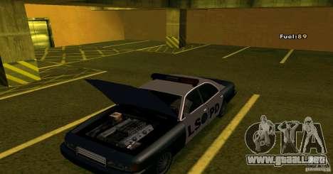 Merit Police Version 2 para GTA San Andreas vista posterior izquierda