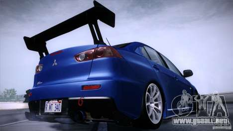 Mitsubishi Lancer Evolution X Tunable para GTA San Andreas left