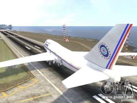 Oceanic Airlines para GTA 4 Vista posterior izquierda