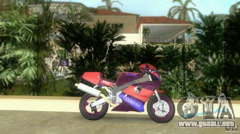 Yamaha FZR 750 midnight black para GTA Vice City left