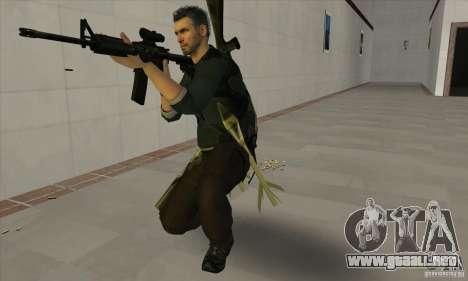 Sam Fisher para GTA San Andreas sucesivamente de pantalla