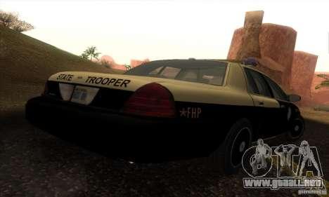 Ford Crown Victoria Florida Police para GTA San Andreas left