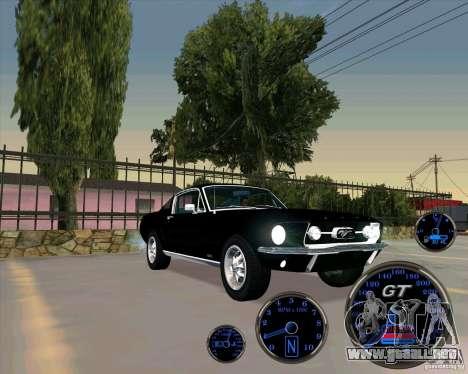 Ford Mustang Fastback para GTA San Andreas vista posterior izquierda