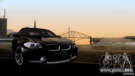 BMW M5 2012 para la vista superior GTA San Andreas