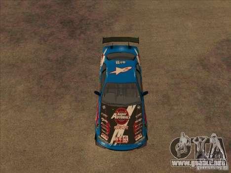 Nissan Skyline GT-R R34 Super Autobacs para GTA San Andreas vista hacia atrás