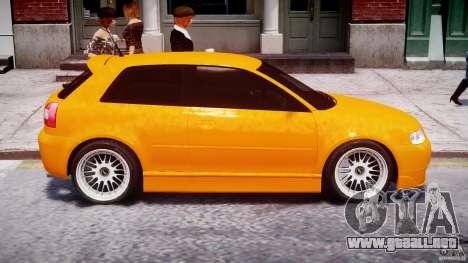 Audi A3 Tuning para GTA 4 vista desde abajo