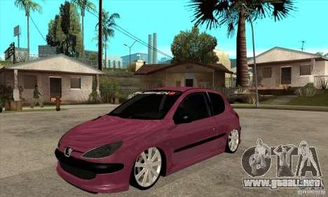 Peugeot 206 Suspen AR para GTA San Andreas
