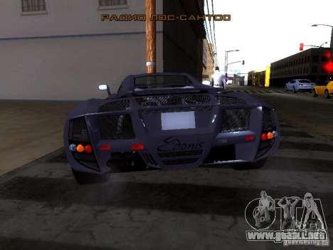 B Engineering Edonis para GTA San Andreas vista hacia atrás