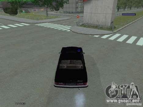 Volga FEDERAL para GTA San Andreas vista hacia atrás
