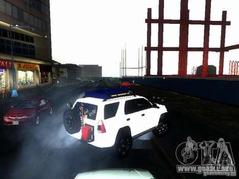 Toyota 4Runner 4X4 para GTA San Andreas vista posterior izquierda