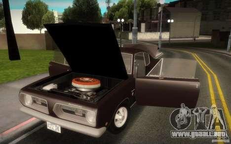 Plymouth Barracuda Formula S para visión interna GTA San Andreas