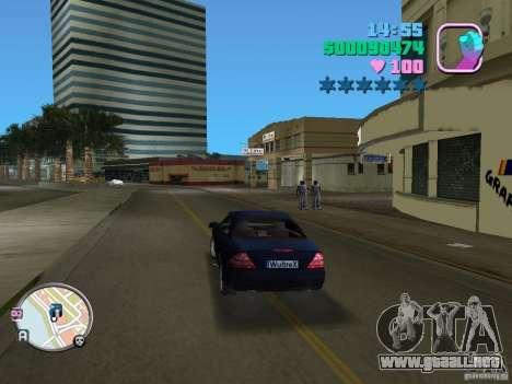 Mercedes-Benz E350 para GTA Vice City visión correcta