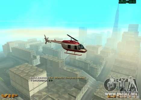 New Maverick para GTA San Andreas vista posterior izquierda