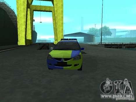 Policía de Mitsubishi Lancer para visión interna GTA San Andreas