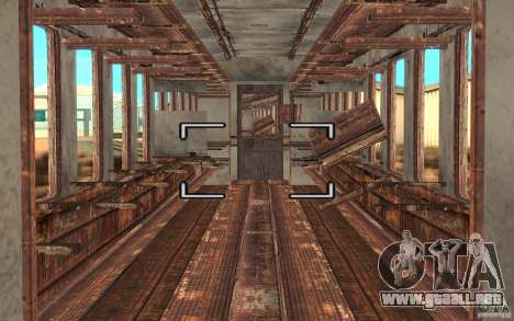 Un tren del juego s.t.a.l.k.e.r. para la visión correcta GTA San Andreas