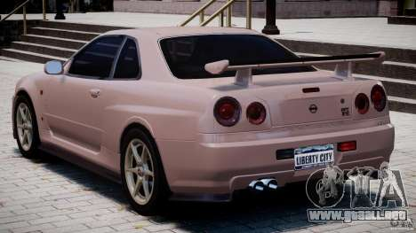 Nissan Skyline GT-R 34 V-Spec para GTA 4 visión correcta