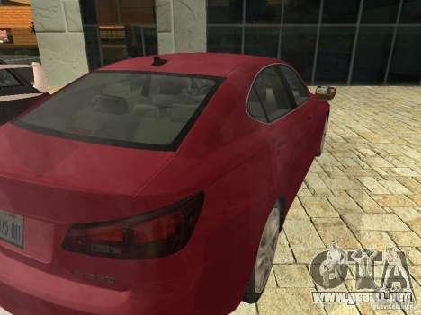 Lexus IS 350 para la visión correcta GTA San Andreas