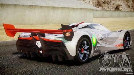 Mazda Furai Concept 2008 para GTA 4 vista desde abajo