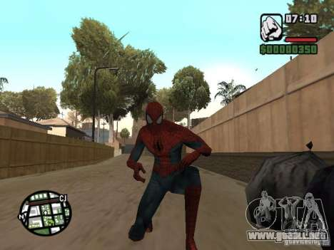 Spider-man 2099 para GTA San Andreas sucesivamente de pantalla