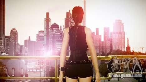 Angelina Jolie (Tomb Raider) para GTA 4 adelante de pantalla